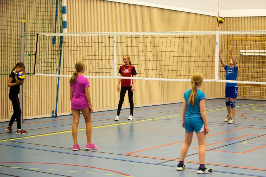 2002 og 2003 trener med tradisjonell volleyball