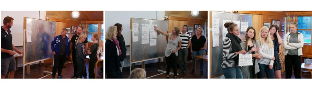 Medlemmer presenterte ideene i plenum