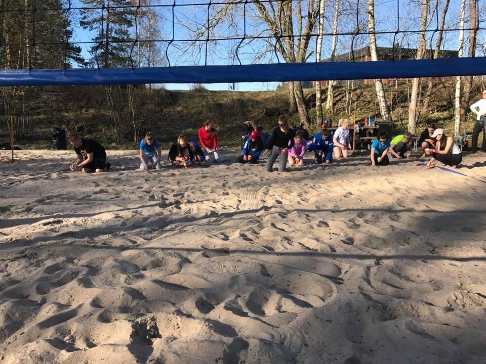 Sandvolleyballbanene på Sofiemyr rustes ytterligere opp i 2017